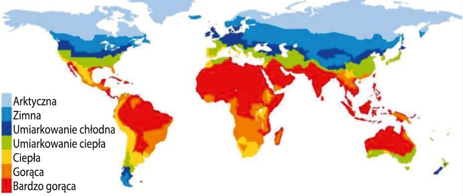 Mapa stref klimatycznych świata