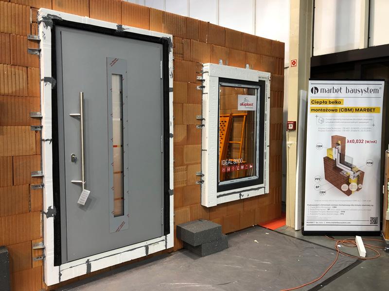 Okno i drzwi wejściowe zamontowane z wykorzystaniem systemu CBM
