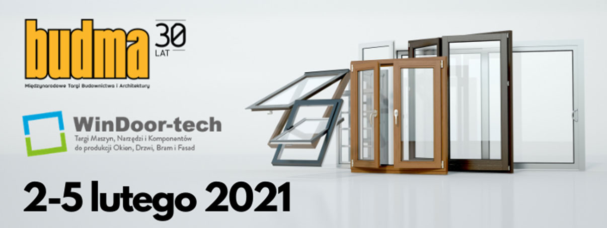 Targi WinDoor-tech i Budma 2-5 luty 2020 - Poznań