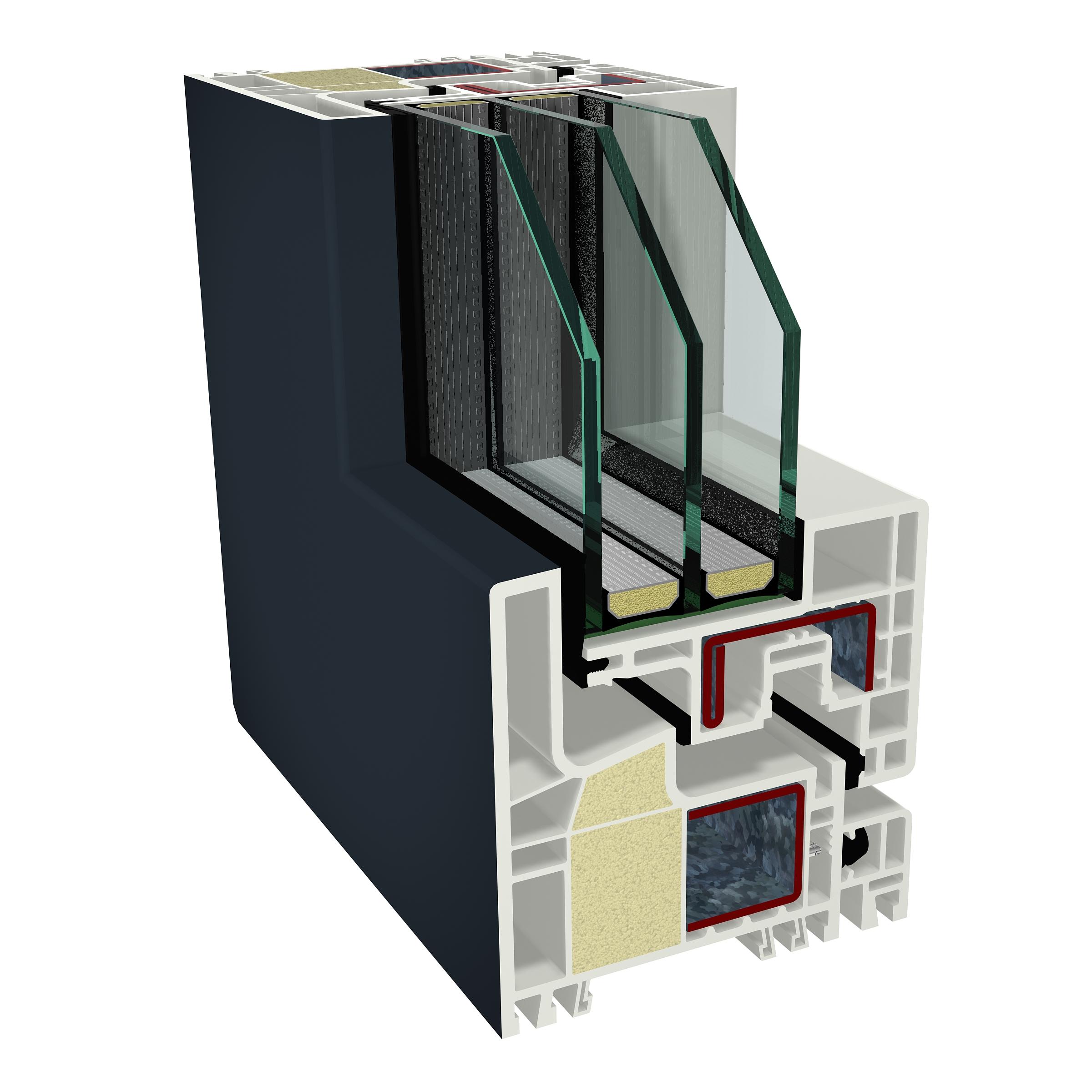 1.Złożenie ramy ościeżnicy i ramy skrzydła kształtowników okiennych systemu GEALAN-KUBUS®