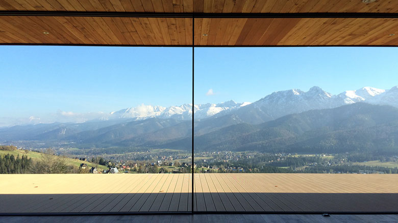 aluminiowe okno panoramiczne panoramah!