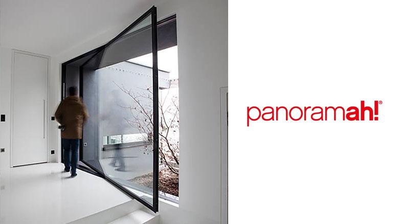 wielkogabarytowe bezramowe drzwi obrotowe panoramah!