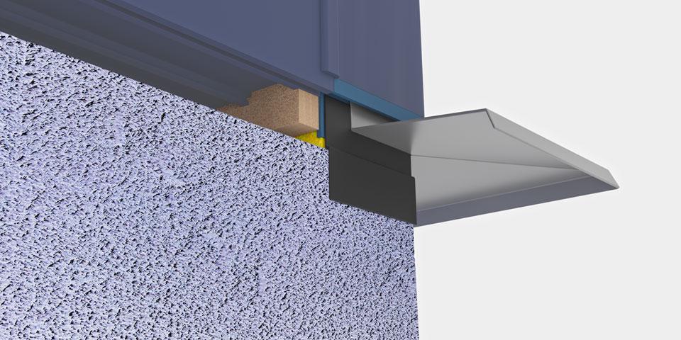 Zaślepka słupa kątowego 90° - złożenie elementów - sposób likwidacji problemów montażowych