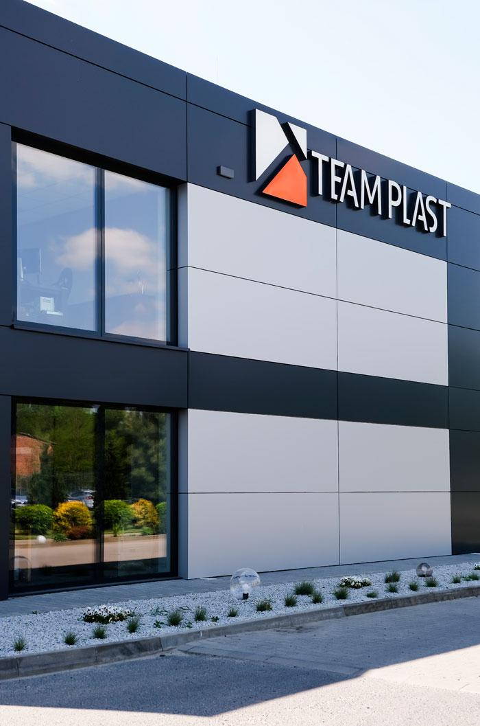 Budynek nowej fabryki okien i drzwi aluminiowych TEAM PLAST