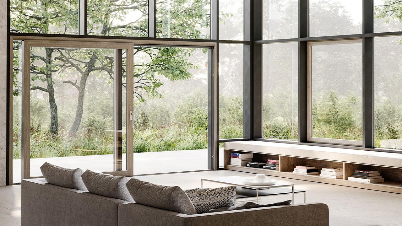 Połączenie estetyki i funkcjonalności: aluminiowe systemy przesuwne heroal dzięki licznym możliwościom aranżacyjnym pasują do każdego obiektu, a jednocześnie wyróżniają się najlepszymi właściwościami użytkowymi. © heroal
