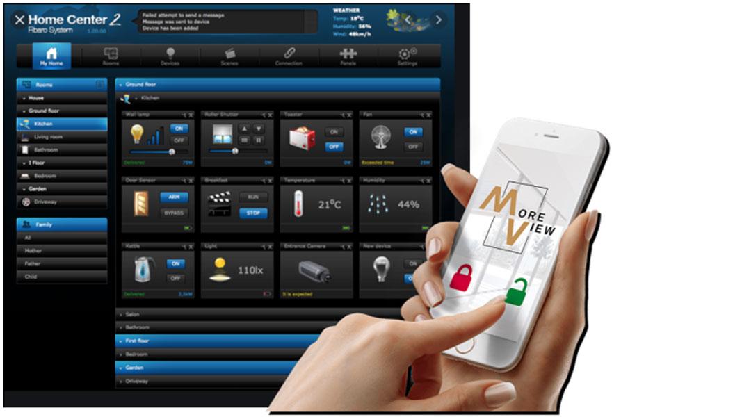 Sterowanie Moreview z poziomu smartfona to standard (zdjęcie własność YAWAL S.A.)
