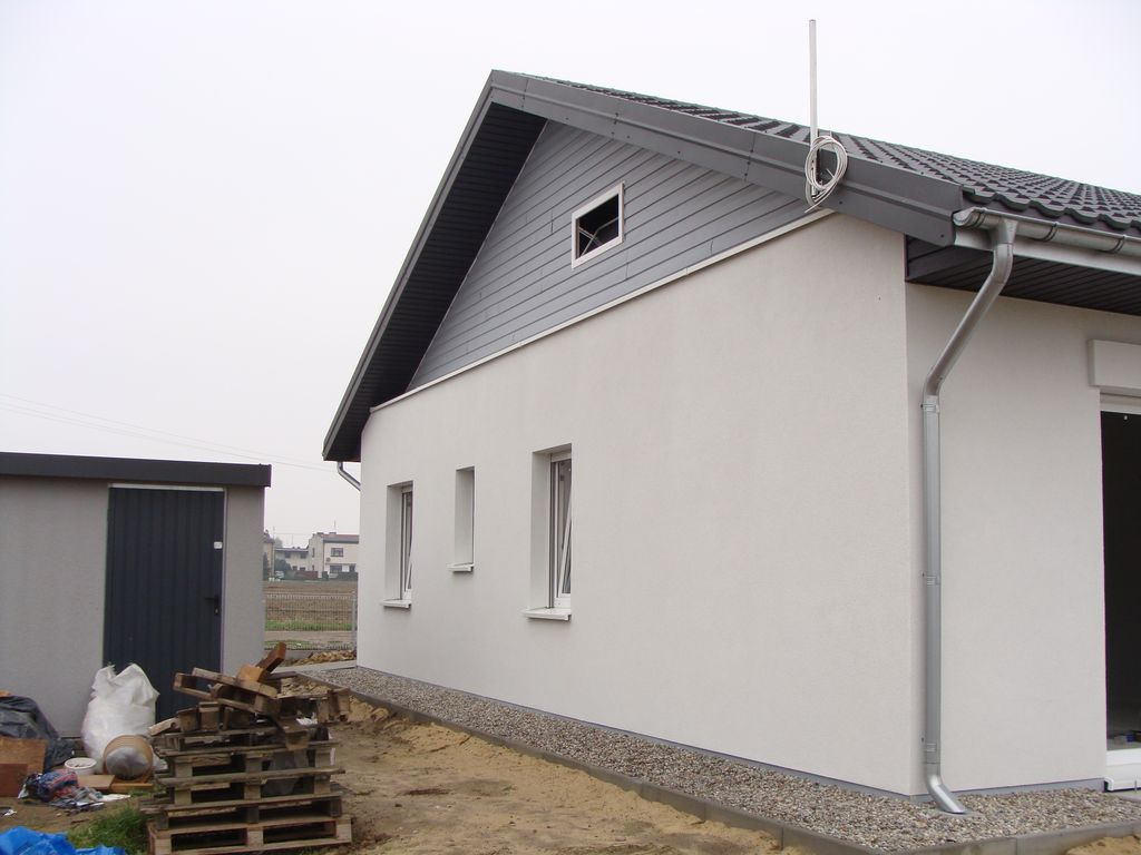 Budynek pasywny stan w trakcie testu szczelnosci powietrznej