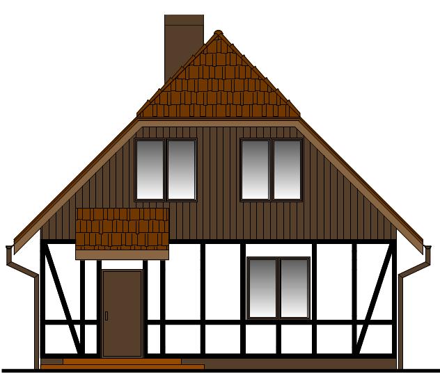 Elewacja domu w Bałdowie rys.2