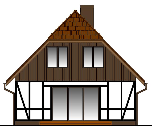 Elewacja domu w Bałdowie