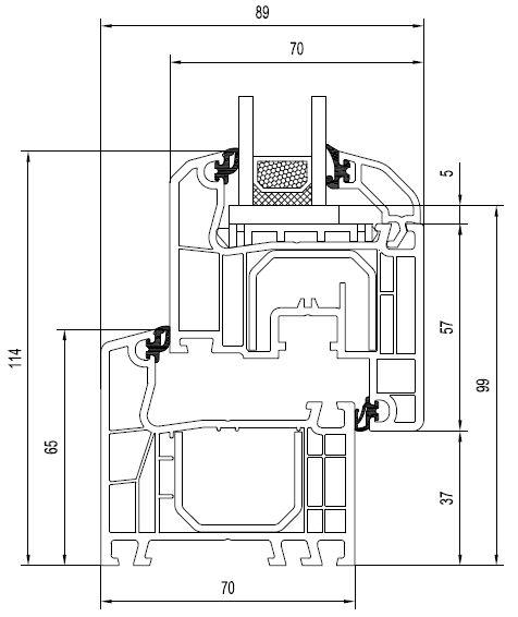IDEAL 4000 - 70 mm. Złożenie wymiary.