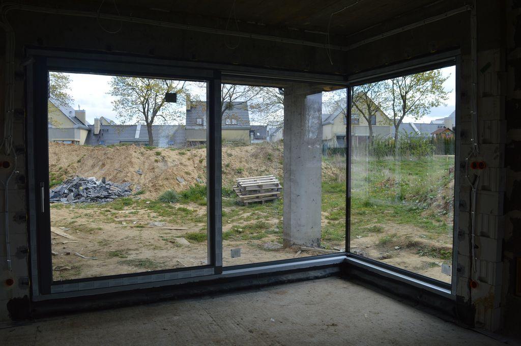 Zamontowane drzwi tarasowe AdamS HST Passiv Corner View