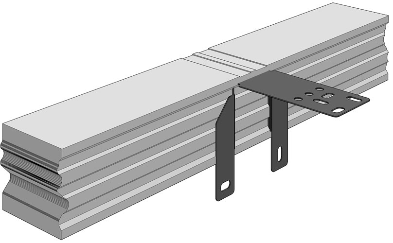 Ciepła Belka Montażowa, (CBM), belka nośna z mocowaniem wewnętrznym 700/100 mm
