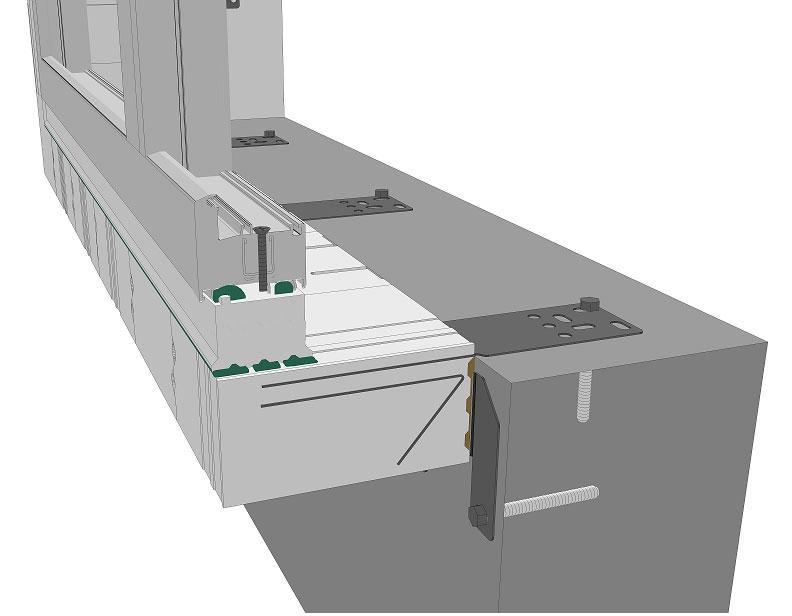 Sposób mocowania do ściany konstrukcyjnej belki z mocowaniem wewnętrznym