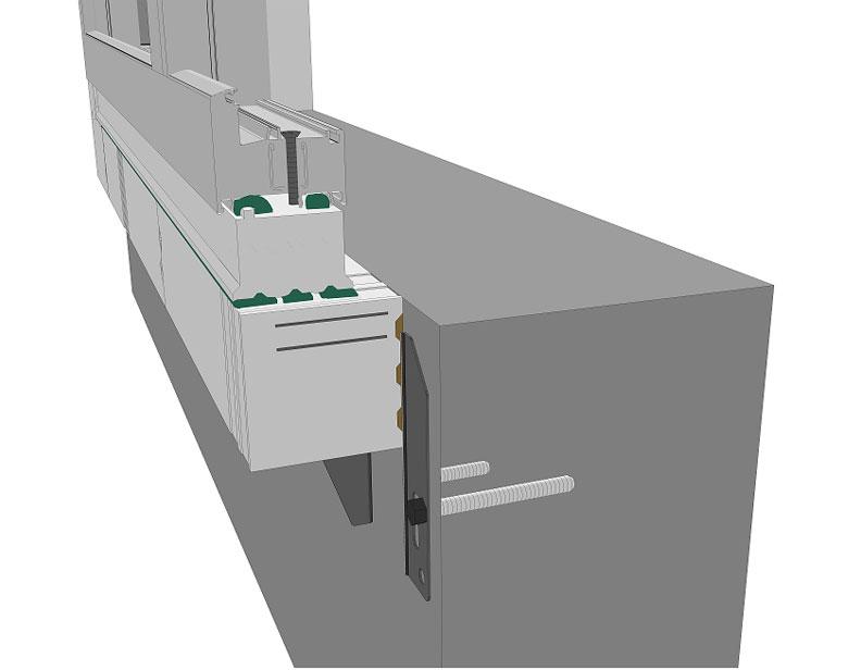 Sposób mocowania do ściany konstrukcyjnej belki z mocowaniem zewnętrznym