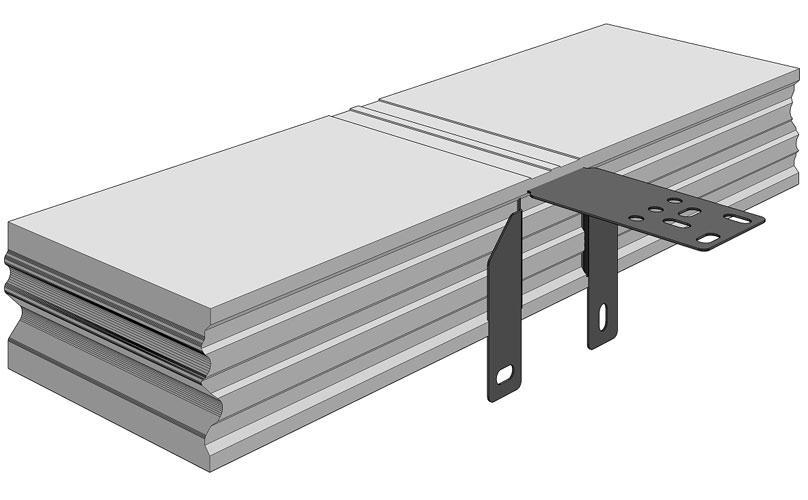 1.Ciepła Belka Montażowa, (CBM), belka nośna z mocowaniem wewnętrznym 700/200 mm