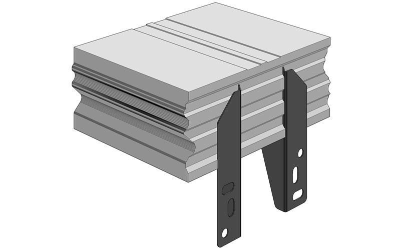 Ciepła Belka Montażowa, (CBM), belka nośna z mocowaniem zewnętrznym 250/200 mm