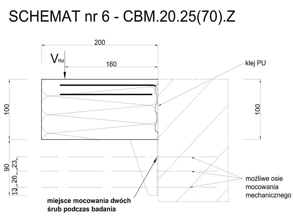 Element systemu montażu w warstwie ocieplenia Marbet Bausystem CBM 2.25(70).Z