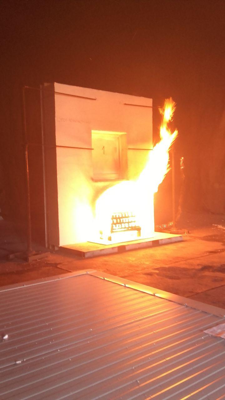 Ciepła Belka Montażowa - badanie ogniowe