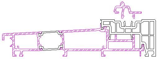 Próg drzwi balkonowych HST Aluplast 85 mm Standard