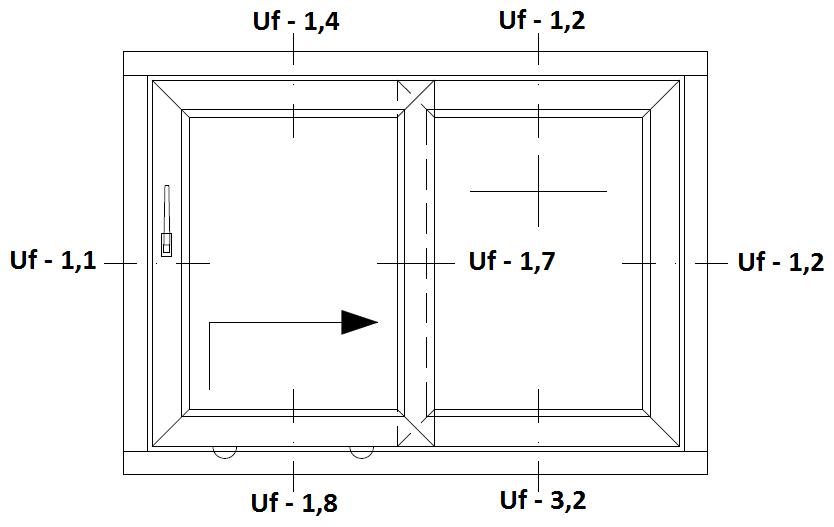 pSchemat drzwi balkonowych HST Aluplast 85 mm Basic