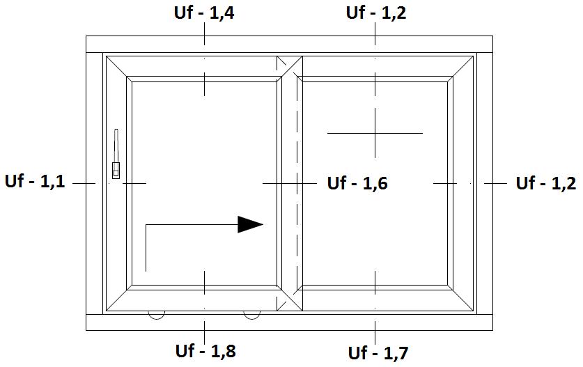 Schemat drzwi balkonowych HST Aluplast 85 mm Standard