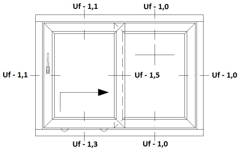 Schemat drzwi balkonowych HST Aluplast 85 mm Premium