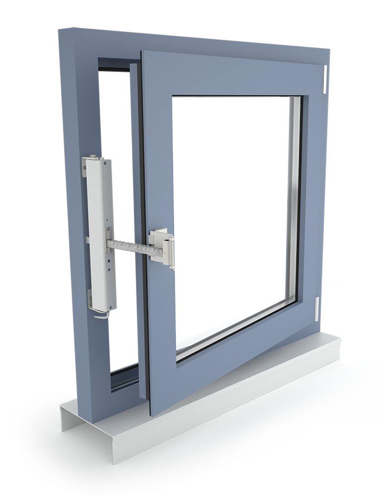 D+H napęd łańcuchowy VCD 203, okno rozwierne, otwierane do wewnątrz