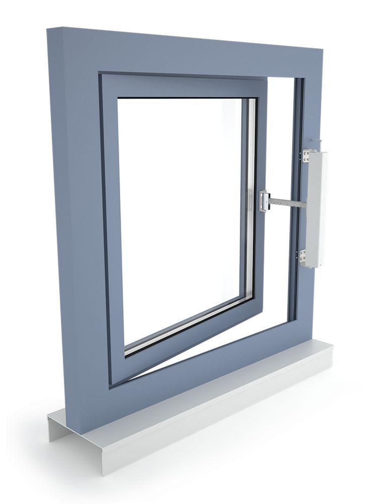 D+H napęd łańcuchowy VCD 203, okno rozwierne, otwierane na zewnątrz