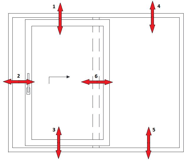 Schemat drzwi balkonowych HST badanie Uf
