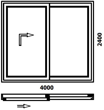 Schemat drzwi balkonowych HST Vetrex Slide 82