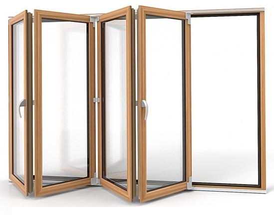 Składane drzwi harmonijkowe, przesuwne Vetrex Patio Space