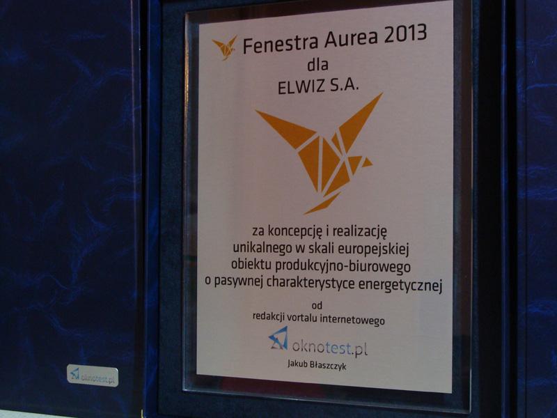 Fenestra Aurea 2013 - ELWIZ S.A.