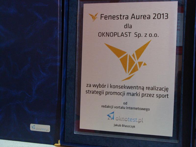 Fenestra Aurea 2013 - OKNOPLAST Sp. z o.o.