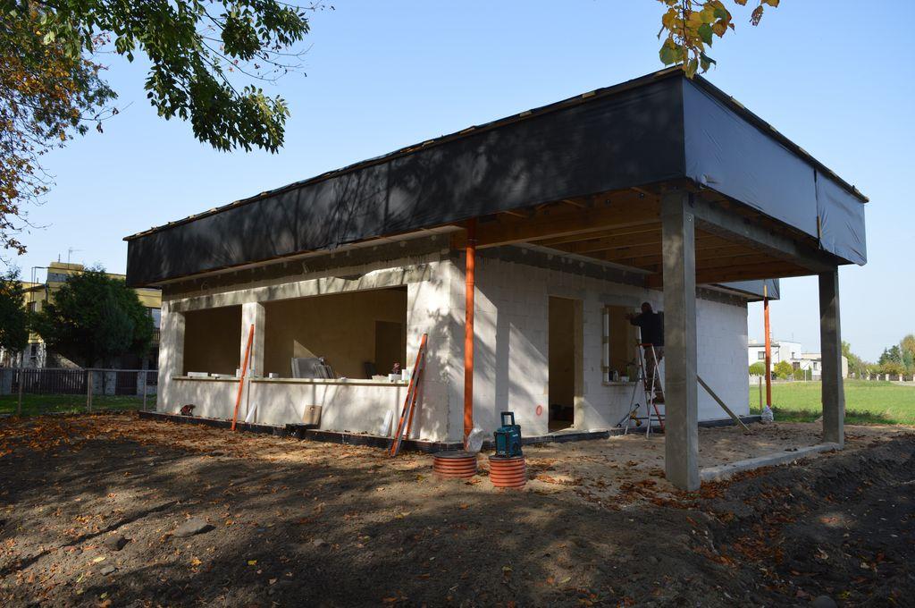 1. Jednorodzinny dom pasywny w Pogorzeli – elewacja południowa