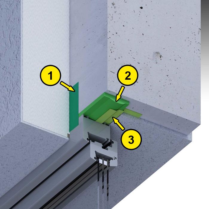 Górne uszczelnienie złącza okiennego z wykorzystaniem folii okiennych i pianki poliuretanowej