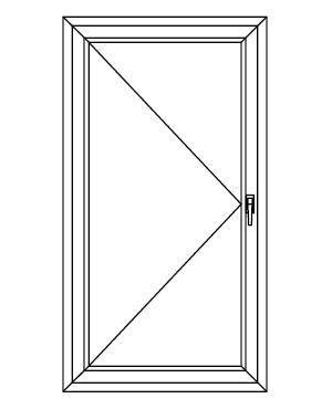 Drzwi balkonowe jednoskrzydłowe rozwierane