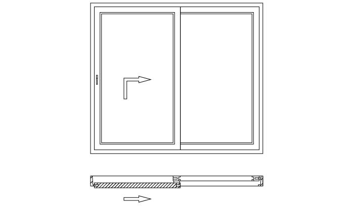 Drzwi balkonowe unoszono-przesuwne HST schemat otwierania A