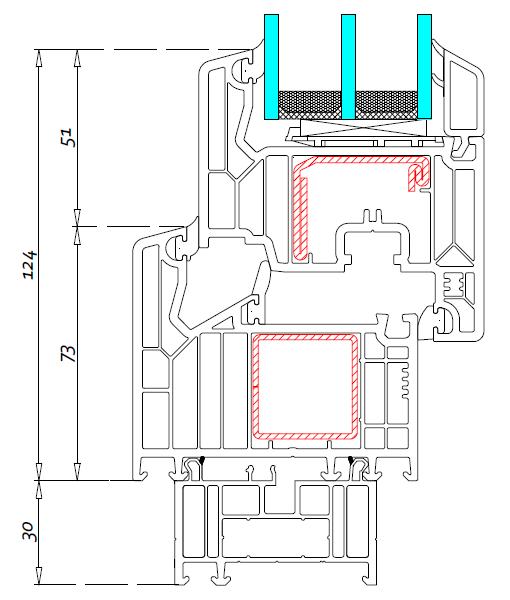 Drzwi balkonowe jednoskrzydłowe – próg standardowy