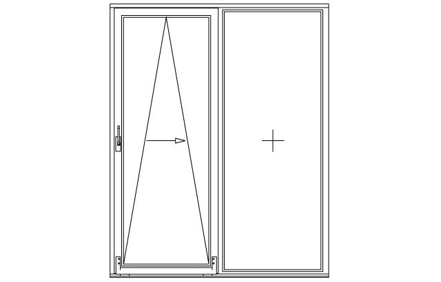 Dwukwaterowe drzwi balkonowe uchylno-przesuwne PSK