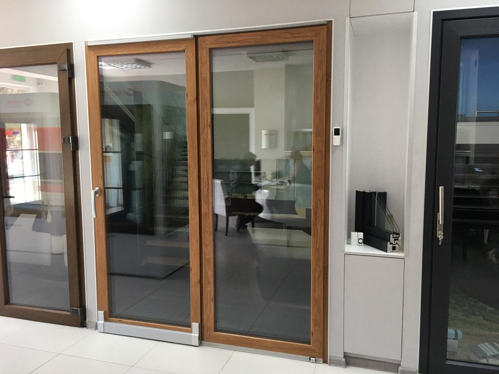 Drzwi balkonowe PSK odstawno-przesuwne w pozycji zamkniętej