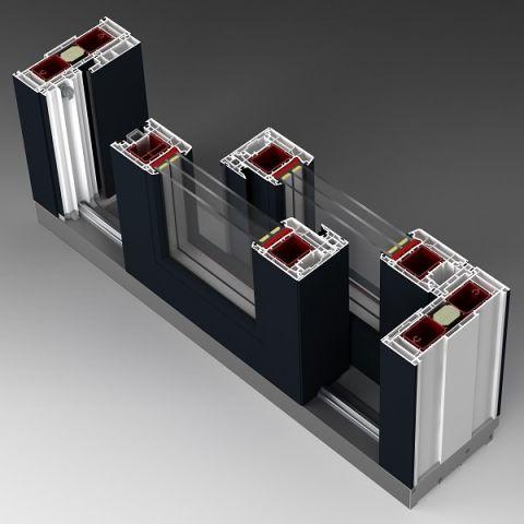 Przesuwne drzwi balkonowe HST Aluplast 85mm