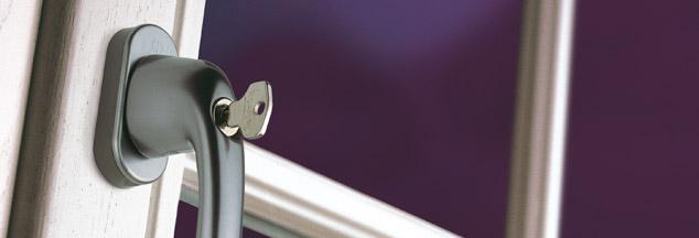 Klamka do okien Secu100 i Secu200 z kluczykiem