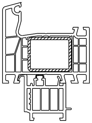 Listwa progowa zamontowana/wpięta do ramy ościeżnicy okna