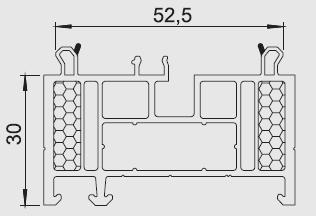 Listwa progowa/transportowa AVAS 02 Aluplast, Veka