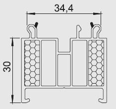 Listwa progowa/transportowa AS 03 Energeto, VEKA, Drutex, LB Profile, Spectrum, Wital