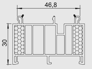 Listwa progowa/transportowa B 3 Salamander, Schüco