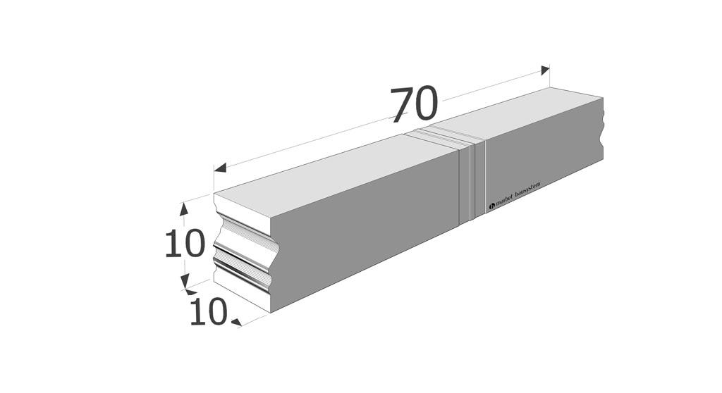 CBM.20.70 element systemu Ciepłej Belki Montażowej