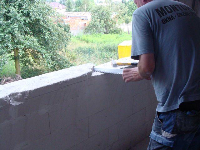 Przygotowanie progu do montażu okna