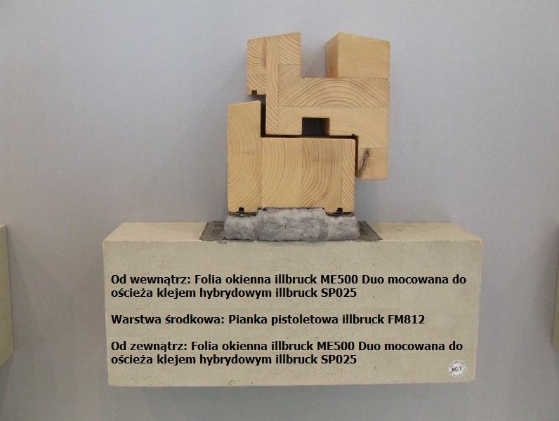 Uszczelnienie połączenia okna z ościeżem przy użyciu folii okiennych Duo i pianki PU