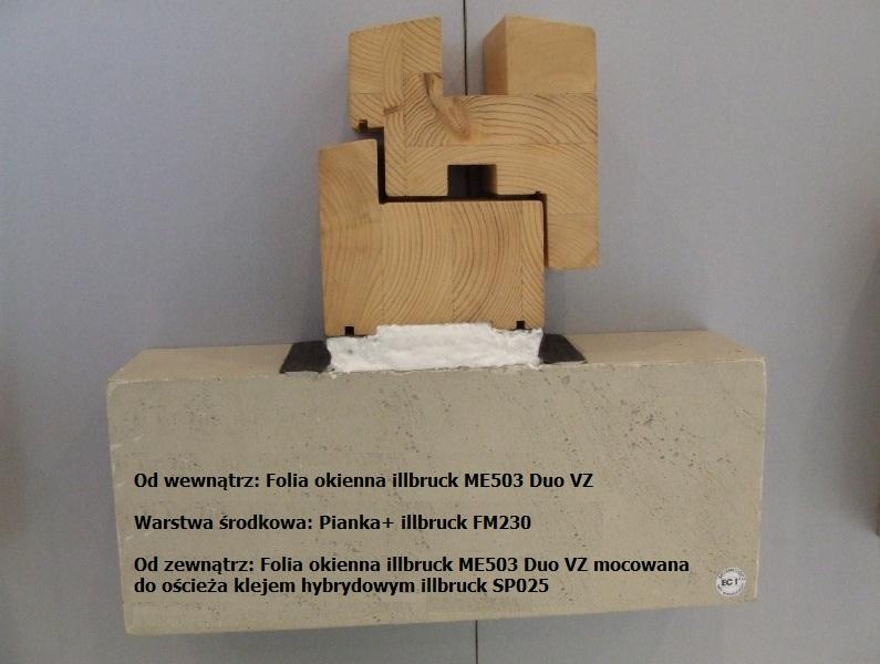 Uszczelnienie połączenia okna z ościeżem przy użyciu folii okiennej Duo VZ oraz pianki PU
